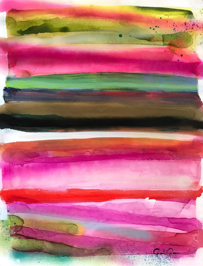 Gee Gee Collins Abstract Painting - History in Full Color (Bold and Heavy)