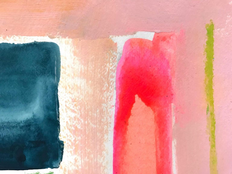 History in Full Color (Color Concept) - Orange Abstract Painting by Gee Gee Collins