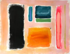 """""""History in Full Color (Color Concept)"""" Colorful Mixed Media Painting on Paper"""
