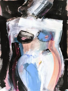 Luminescence, Modern Nude on Paper