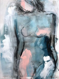 """Mystic Nude"" Modern Colorful Nude Painting on Canvas"
