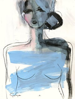 Paris, Modern Nude on Paper