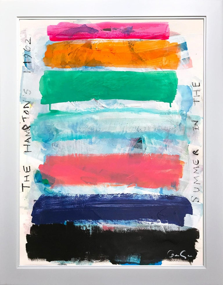 Gee Gee Collins Abstract Painting - Summer In The Hampton's 1962