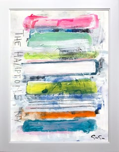 """The Hamptons, NY"" Contemporary Colorful Painting on Heavy Weight Paper"