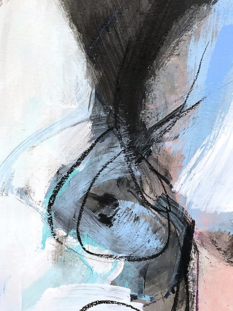 The White Curtain, Modern Nude on Paper For Sale 4