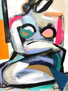 Woman Uncovered Bold, with Mixed Media