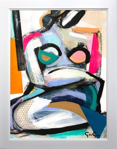 """""""Woman Uncovered Bold"""" Modern Colorful Nude Painting on Heavy Weight Paper"""