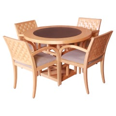 Geiger-Brickel Modern Dining or Game Table and Chairs Set