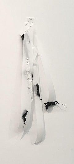 Gelah Penn, Spliced Polyglot #20, 2019, synthetics, pins, staples, Minimalist