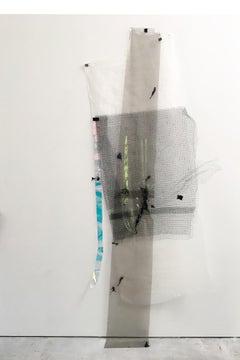 Gelah Penn, Ebb Tide_Stele #4, 2019, various synthetic materials, wire, staples