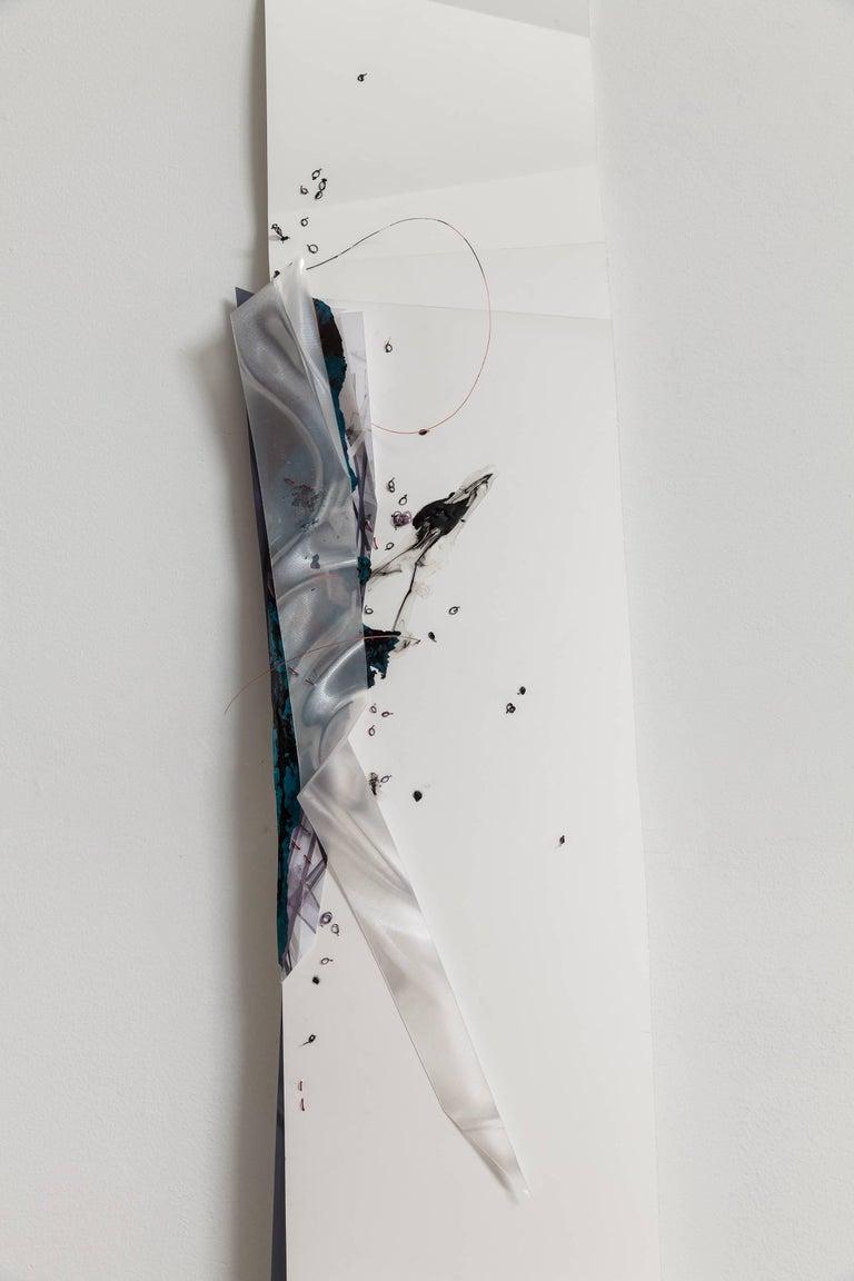 Gelah Penn, 'Serial Polyglot Y', 2014-15, Metal, Wire, Graphite, Digital Print  - Gray Abstract Sculpture by Gelah Penn