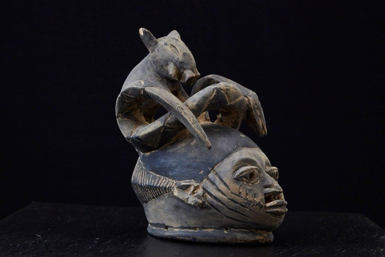 Gelede Headdress, Yoruba People, Nigeria, circa 1920s For Sale 4