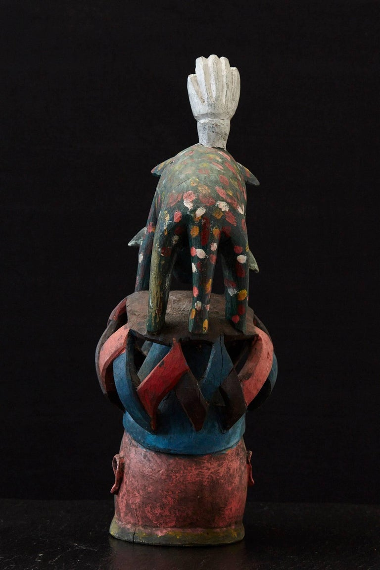 Gelede Headdress, Yoruba People, Nigeria, circa 1950s In Good Condition For Sale In Weston, CT