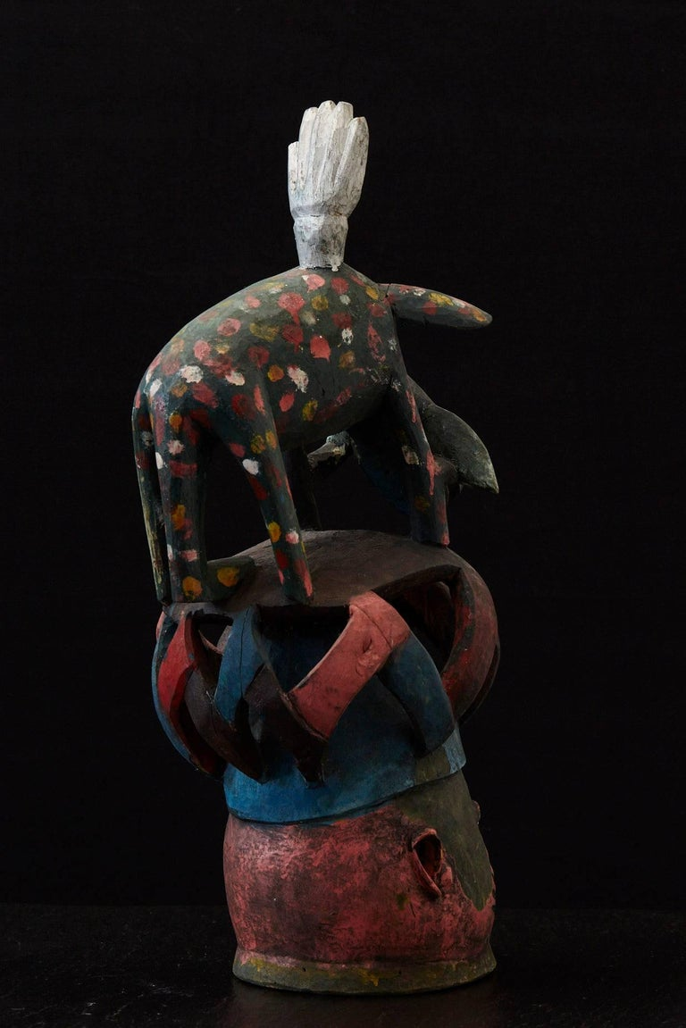 20th Century Gelede Headdress, Yoruba People, Nigeria, circa 1950s For Sale
