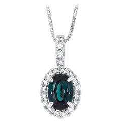 Gem Bleu 0.59 Carat Natural Alexandrite with 0.12 Carat Diamonds Set in Platinum