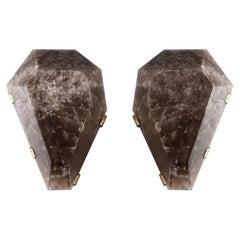 GEM II Rock Crystal Sconces by Phoenix