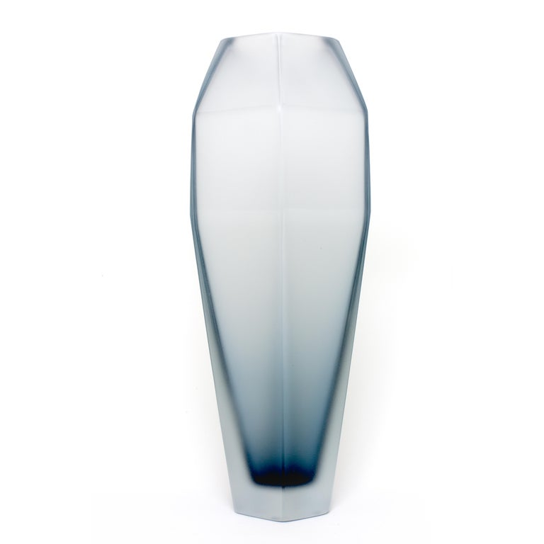 Modern Gemella Frosted Vase in Murano Glass by Alessandro Mendini For Sale
