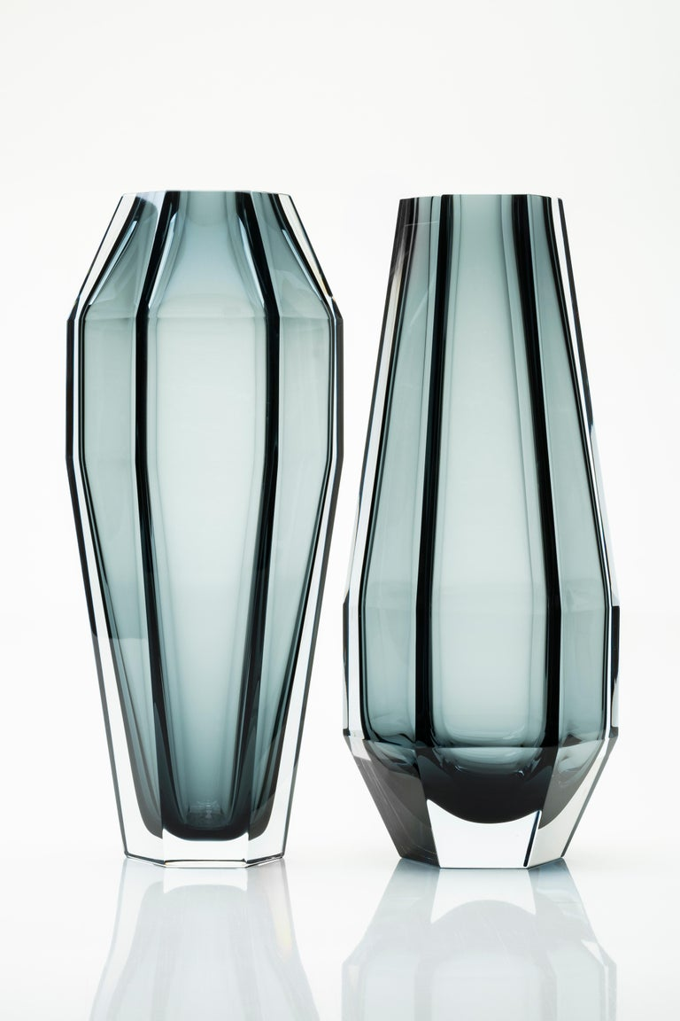 Murano Glass 21st Century Alessandro Mendini Murano Transparent Glass Vase Various Colors For Sale