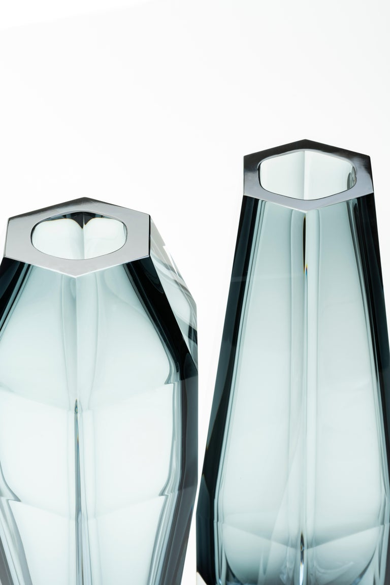 21st Century Alessandro Mendini Murano Transparent Glass Vase Various Colors For Sale 1