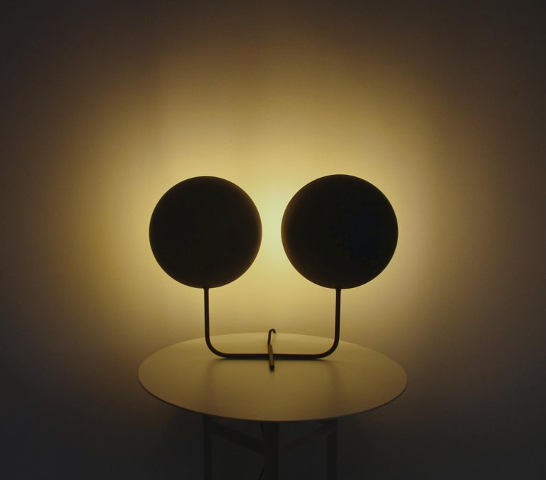 Powder-Coated Gemelli Table Lamp For Sale