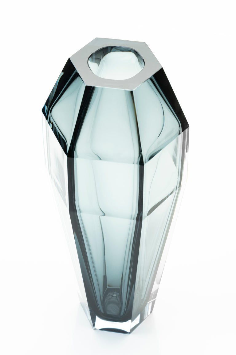 Modern 21st Century Alessandro Mendini Murano Transparent Glass Vase Various Colors For Sale