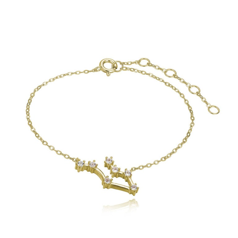 Trillion Cut Gemini Constellation Bracelet For Sale