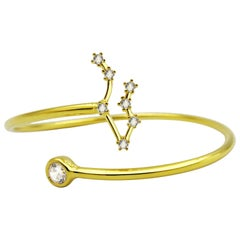 Gemini Constellation Wire Bezel Cuff