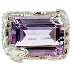 Gemjunky Beautiful 6.5 Carat Amethyst Sterling Silver Ring