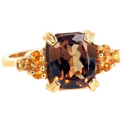 "Gemjunky ""Congratulations Collection"" Fiery Color Change Garnet & Sapphire Ring"