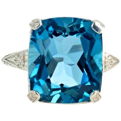 "Gemjunky ""Congratulations Collection"" Stunning Intense London Blue Topaz Ring"
