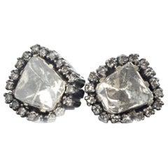 Gemjunky Dazzling Natural Diamond Rock Earrings