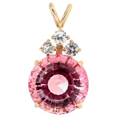 "Gemjunky ""Dutchess"" 18 ct Brilliant Pink Tourmaline & Sparkling Spinel Pendant"