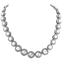 Gemjunky Elegant Artistic Contemporary Diamond Rock Silver Necklace