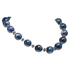 Gemjunky Elegant Blue Kyanite Necklace