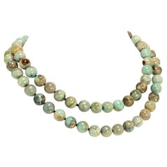 Elegant Dragon Skin Jasper 2-Strand Necklace