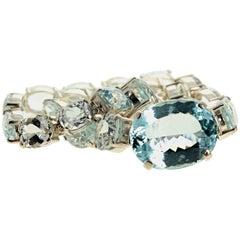 Gemjunky Magnificent Huge Natural Aquamarine Sterling Silver Necklace