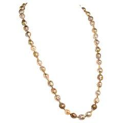 Gemjunky Multi-Tone Wrinkle Pearl Necklace