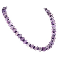 Gemjunky Sparkling Amethyst in Two Sizes Necklace February Birthstone