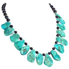 Gemjunky World Famous Sleeping Beauty Turquoise Necklace with Lapis Lazuli