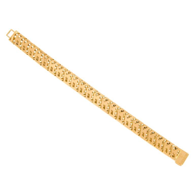 Gemlok 18 Karat Gold Y Knot Bracelet For Sale
