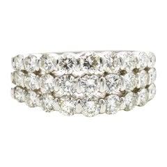 Gemlok 2.00 Carat 18 Karat White Gold Diamond Band Ring