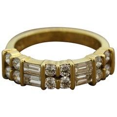 Gemlok Diamond Gold Band Ring