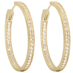Gemma Diamond Gold 18 Karat Hoop Earrings