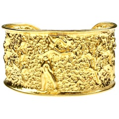 Gemolithos 22 Karat Yellow Gold The Prince of Knossos Cuff Bangle Bracelet