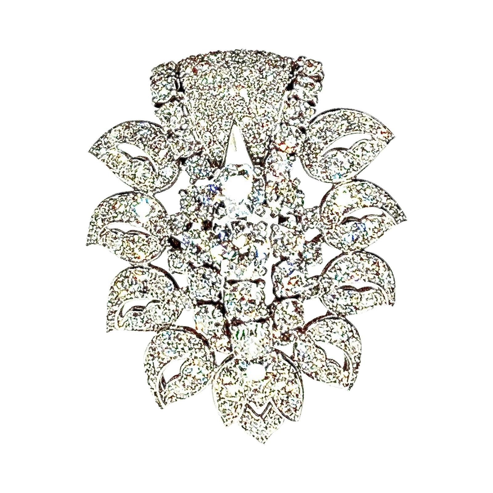 Gemolithos a Cartier Signed Diamond Brooch, circa 1938
