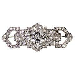 Gemolithos Art Deco Diamond Brooch, 1920s