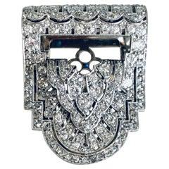 Gemolithos, Art Deco Diamond Clip, in Pt, circa 1920s, D & J Wellby