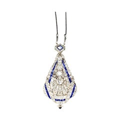 Gemolithos Belle Époque Sapphire and Diamond Pendant/Watch, circa 1900s
