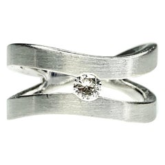 Gemolithos Diamond Ring 0.15 Carat, 18 Karat Gold, for Every Day
