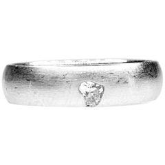 Gemolithos Heart Shape Diamond Ring, Est. 0.10 Carat G/VVS1, 18 Karat White Gold